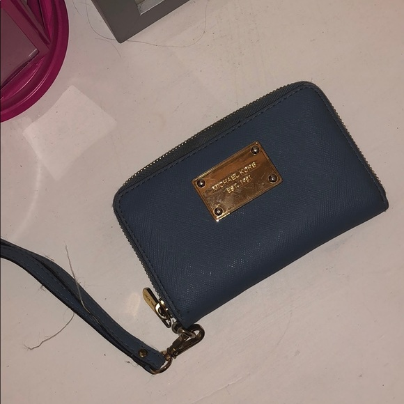 Michael Kors Handbags - Micheal Kors baby blue wristlet